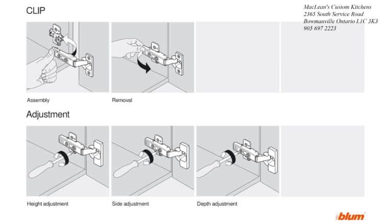 Kitchen Bathroom Hinge Clip Adjustment